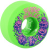 Santa Cruz Skateboards Slimeballs Skullbasher Neon Green Skateboard Wheels - 54mm 97a (Set of 4)