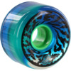 Santa Cruz Skateboards Slimballs Swirly Transparent Blue Skateboard Wheels - 65mm 78a (Set of 4)
