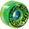 Santa Cruz Skateboards Slimballs Swirly Transparent Green Skateboard Wheels - 65mm 78a (Set of 4)