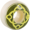 Satori Movement Big Link White / Light Green / Yellow Skateboard Wheels - 52mm 101a (Set of 4)
