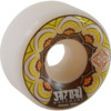 Satori Movement Mandala White / Yellow Skateboard Wheels - 52mm 101a (Set of 4)