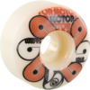 Sector 9 Pack Faces White Skateboard Wheels - 56mm 101a (Set of 4)