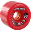 Seismic Skate Systems Urchin Red Skateboard Wheels - 75mm 82a (Set of 4)