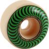 Spitfire Wheels Formula Four Classic Swirl White w/ Green Skateboard Wheels - 52mm 101a (Set of 4)