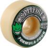 Spitfire Wheels Formula Four Conical White w/ Green & Black Skateboard Wheels - 52mm 101a (Set of 4)
