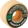 Spitfire Wheels Formula Four Conical White w/ Green & Black Skateboard Wheels - 53mm 101a (Set of 4)