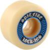 Spitfire Wheels Formula Four Lock-Ins White / Blue Skateboard Wheels - 52mm 99a (Set of 4)