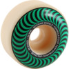 Spitfire Wheels Formula Four Classic Swirl White w/ Green Skateboard Wheels - 52mm 99a (Set of 4)