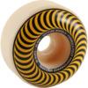 Spitfire Wheels Formula Four Classic Swirl White w/ Yellow Skateboard Wheels - 55mm 99a (Set of 4)
