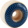 Spitfire Wheels Formula Four Classic Swirl White w/ Blue Skateboard Wheels - 56mm 99a (Set of 4)