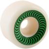 Spitfire Wheels O.G. Classics White / Green Skateboard Wheels - 52mm 99a (Set of 4)
