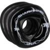 Shark Wheels DNA Black with White Hubs Skateboard Wheels - 72mm 78a (Set of 4)