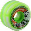 Speedlab Wheels Fangs Green / White Swirl Skateboard Wheels - 59mm 101a (Set of 4)