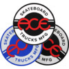 "Ace Trucks 4"" Round Logo Assorted Colors Skate Sticker"
