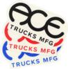 "Ace Trucks 3"" Standard Logo Assorted Colors Skate Sticker"