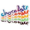 """Chocolate Skateboards Chunk Skate Sticker - 3"""""""