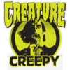"Creature Skateboards X Creepy Mylar Black / Green Skate Sticker - 3.75"" x 4"""