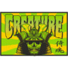 "Creature Skateboards 3.25"" x 5"" Soul Servant Black / Green / Yellow Skate Sticker"