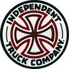 "Independent Cross Red / White Skate Sticker - 3"" x 3"""