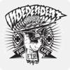 """Independent 5"""" x 5"""" Shredded Black / White Skate Sticker"""