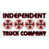 "Independent Stacked Color Assorted Color Skate Sticker - 2"" x 5.5"""