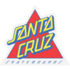 "Santa Cruz Skateboards 3"" x 3.5"" Not a Dot Blue / Red Skate Sticker"