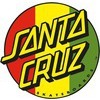 "Santa Cruz Skateboards Rasta Dot Decal - 3"" x 3"""