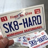 "Warehouse Skateboards NC License Plate Skate Sticker - 5"" x 3"""