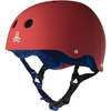 "Triple 8 Sweatsaver Helmet with Sweatsaver Liner United Red Rubber Skate Helmet - X-Large / 23"" - 24"""