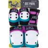 187 Killer Pads Adult Six Pack Pink / Teal Knee, Elbow, & Wrist Pad Set - X-Small
