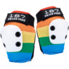 187 Killer Pads Slim Rainbow Elbow Pads - Small