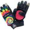 Triple 8 Downhill Longboard Tie Dye / Black Slide Gloves - X-Small