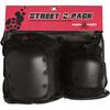 Triple 8 Street Black Knee & Elbow Pad Set - Large