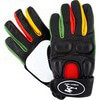 Timeship Racing Kody Noble Black / Rasta Slide Gloves - X-Small