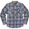 Element Skateboards Human Rights Blue Men's Long Sleeve Button Up Shirt - Medium
