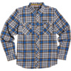 Element Skateboards Human Rights Blue Men's Long Sleeve Button Up Shirt - X-Large