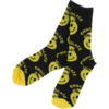 Chocolate Skateboards Mind Blower Black / Yellow Crew Socks - One size fits most