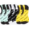 Santa Cruz Skateboards Storm Strip 3 Pack No Show Socks - One size fits most