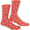 Skate Mental Rust Red Crew Socks - One size fits most