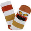 Toy Machine Skateboards Monster Big Stripe Brown Crew Socks - One size fits most