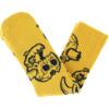 Toy Machine Skateboards Monster Skull Mustard Crew Socks - One size fits most