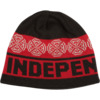 Independent Woven Crosses Beanie Hat