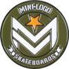 Mini Logo Chevron Army / White Lapel Pin