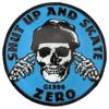 Zero Skateboards Shut Up And Skate Blue / Black Lapel Pin