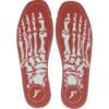 Footprint Orthotic Insoles Kingfoam Skeleton Red Shoe Insole - 6/6.5