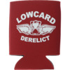 Lowcard Mag Derelict Coozie Red Drinkware