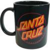 Santa Cruz Skateboards Classic Dot Black Coffee Mug