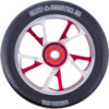 Grit 125mm Bio Core Black / Red / Silver Scooter Wheel