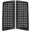 Astrodeck 409 Black Front Foot Gridlock Traction Pad - 2 Pieces