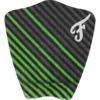 Famous Surf Figueroa Green / Black / Grey Surfboard Traction Pad - 3 Piece